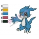Digimon Veemon Embroidery Design 03